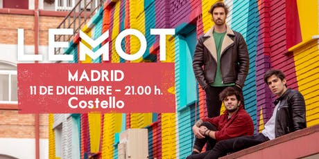 LEMOT - Concierto Madrid - Sala Costello Club entradas