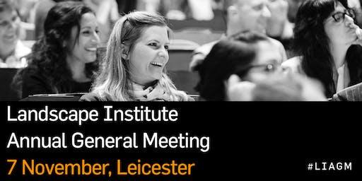 Landscape Institute Annual General Meeting (AGM) 2019