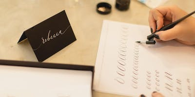 INTRO TO MODERN CALLIGRAPHY with a Christmas Twist by Moon & Tide
