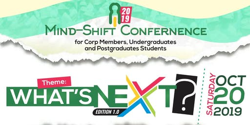 Mind-Shift Conference Live on 20th Oct >> Ibadan City