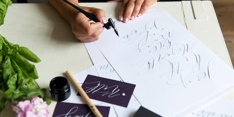 INTRO TO MODERN CALLIGRAPHY with by Moon & Tide  tickets