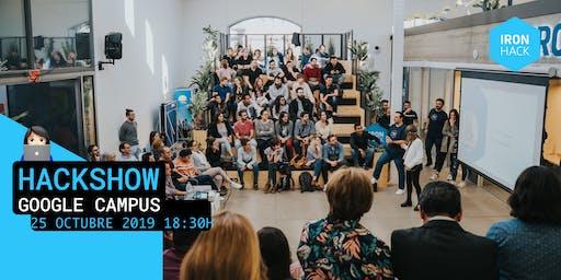 HACKSHOW | WEB + DATA + UX | 25 de Octubre