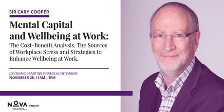 Professor Sir Cary Cooper | Mental Capital and Wellbeing at Work bilhetes