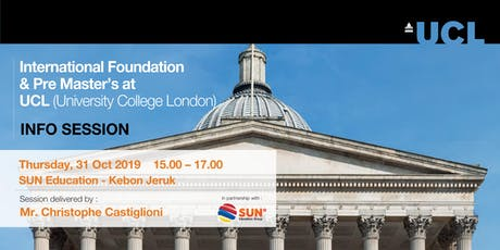 International Foundation & Pre Master's at UCL (University College London) tickets