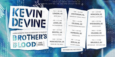 Kevin Devine celebrating 10 years of Brothers Blood tickets