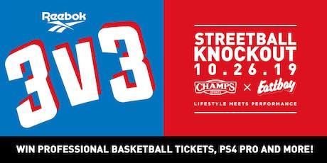 Reebok 3v3 Streetball Knockout - Team Sign Up tickets