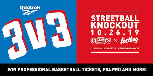 Reebok 3v3 Streetball Knockout - Team Sign Up