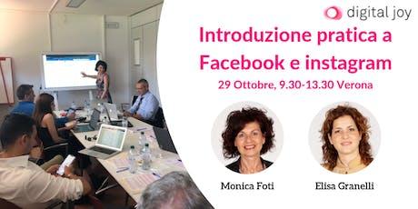Introduzione Pratica a Facebook e Instagram biglietti