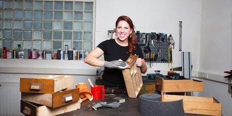 FFM: Möbelaufarbeitung – Modul 2: Farben/Lacke, Werkstoffe, Beschläge – DIY Tickets
