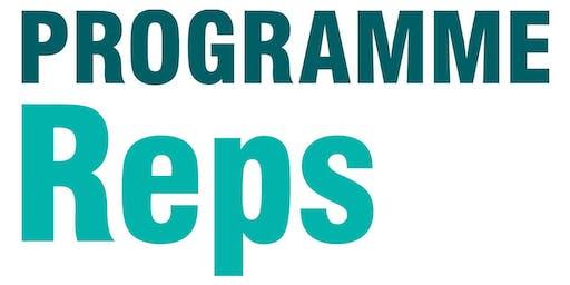 Programme Rep Training - Economics