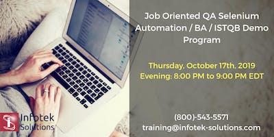 IT Job-Oriented QA Automation Testing /BA/ISTQB Demo Program