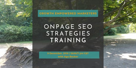 OnPage SEO Strategies Training for Marketers tickets
