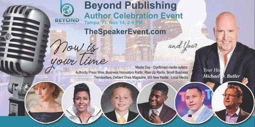 Beyond Publishing Tampa FL Author Speaking Media Interview Event Nov 14