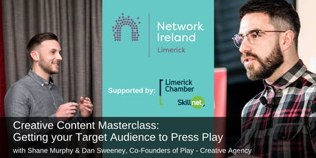 Creative Content Masterclass - Getting your Target Audience to Press Play tickets