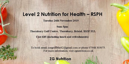 Level 2 Nutrition for Health - RSPH