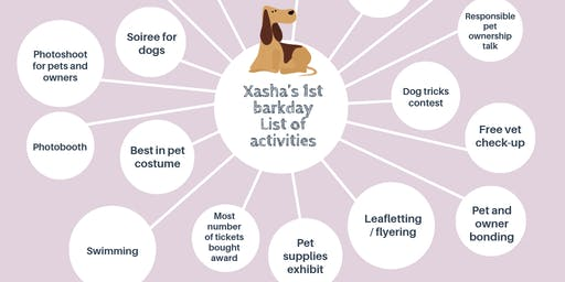 Xasha's First Barkday and Dog Adoption for the benefit of Pawssion Project