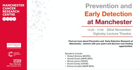 Prevention and Early Detection at Manchester tickets