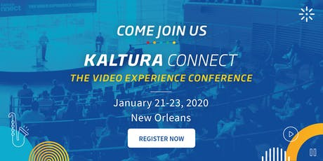 Kaltura Connect 2020 tickets