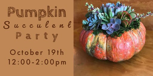 Succulent Pumpkin Party