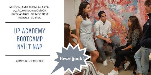 UP academy Bootcamp - NYÍLT NAP