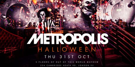 Metropolis Out of this World Halloween tickets