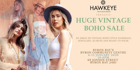 BYRON BAY Huge Unworn Vintage Fashion and Accessories CLEARANCE SALE! tickets