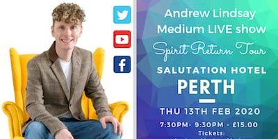 "Andrew Lindsay Medium Live in PERTH \""Spirit Return Tour\"" 2020"