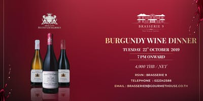 Burgundy Wine Dinner at Brasserie 9