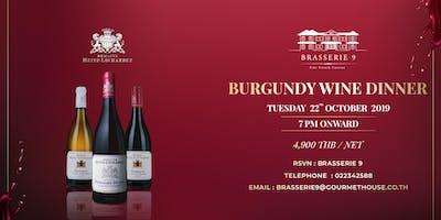 Burgundy Wine Dinner at Brasserie 9