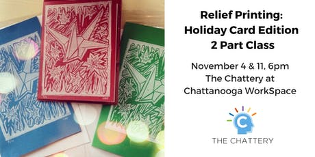 Relief Printing: Holiday Card Edition - 2 Part Class tickets