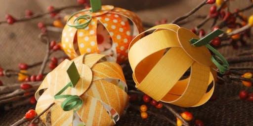 First Sunday- Paper Pumpkins
