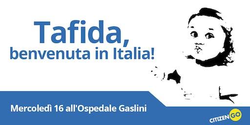 Accogliamo Tafida in Italia! Festa di bevenuto a Genova