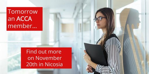 Tomorrow an ACCA member… Find out more on November 20th in Nicosia