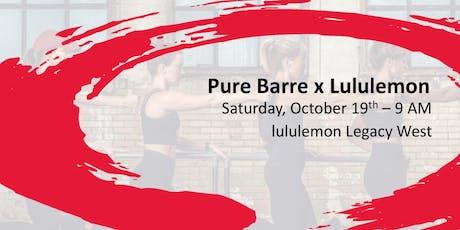 lululemon x Pure Barre North Plano tickets