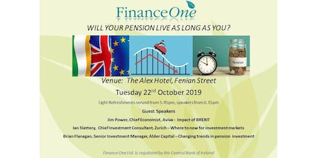 Will Your Pension Live As Long As You? - Pension Information Evening tickets