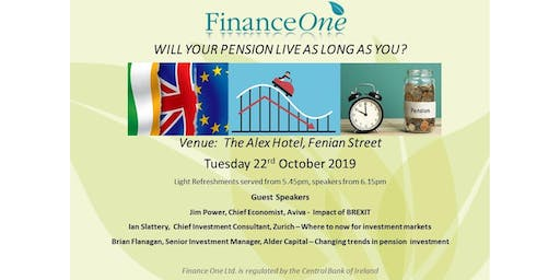 Will Your Pension Live As Long As You? - Pension Information Evening