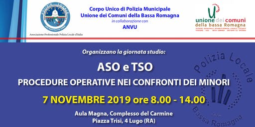 ASO e TSO - Procedure operative nei confronti dei minori