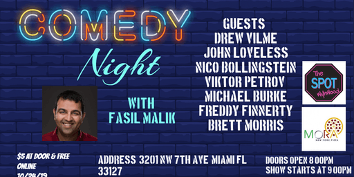 """Comedy Night with Fasil Malik at """"The Spot"""""""