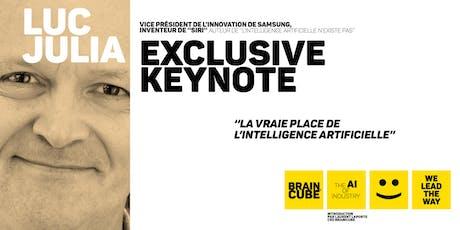 """Keynote de Luc Julia """"La vraie place de l'intelligence artificielle"""" tickets"""