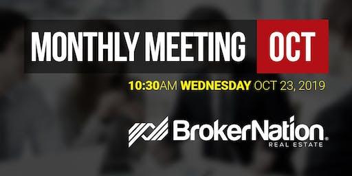 BrokerNation Monthly Meeting - OCT 2019
