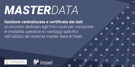Master Data. Gestione centralizzata e certificata dei dati. biglietti