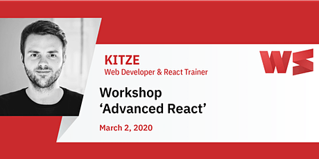 Workshop Advanced React with Kitze tickets