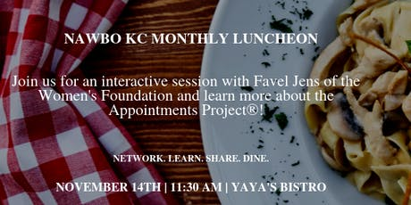 NAWBO KC Lunch with Favel Jens, Women's Foundation - The Appointments Project tickets