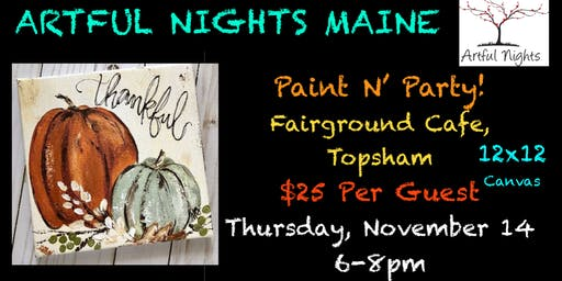 Paint N' Party at Fairground Cafe