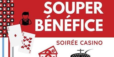 SOUPER-BÉNÉFICE DU CNCB - Soirée casino billets