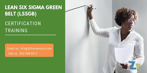 Lean Six Sigma Green Belt (LSSGB) Certification Training in Atherton,CA