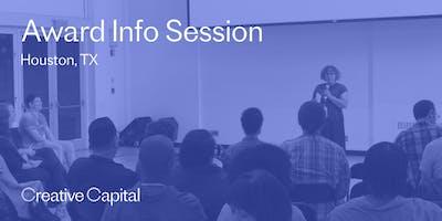 Creative Capital 2020 Award Application Info Session - Houston