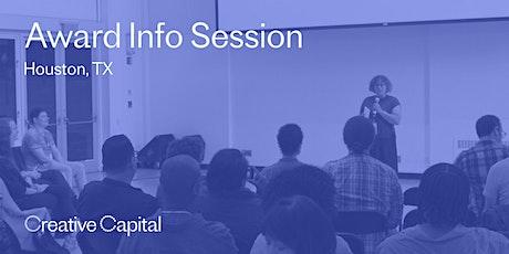 Creative Capital Award Application Info Session - Houston tickets