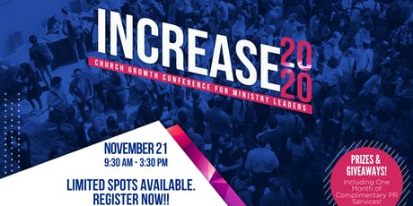 Increase 2020: Church Growth Conference for Ministry Leaders tickets