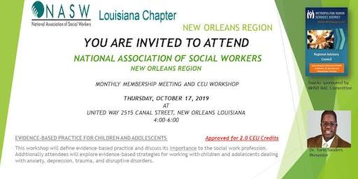 NATIONAL ASSOCIATION OF SOCIAL WORKERS MEETING & CEU WORKSHOP